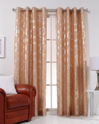 Lafayette Grommet Top Curtain Panel  - Sand