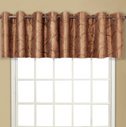 Sinclair Embroidered Grommet Top Valance - Taupe