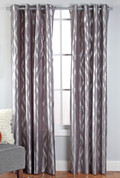 Stanton Grommet Top Curtain Panel  - Chrome