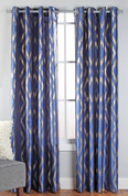 Stanton Grommet Top Curtain Panel  - Cobalt