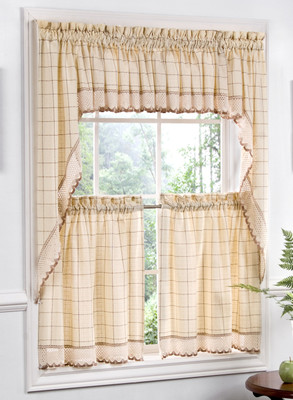 Adirondack Kitchen Curtains - Available in 4 Colors - Linens4Less.com