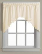 Battenburg Lace cotton kitchen curtain swag  -  Ecru