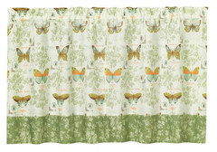 "Butterfly Bliss 36"" kitchen curtain tier"