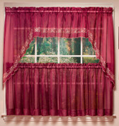 Emelia Embroidered Sheer Insert Valance - Taupe