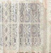 Hopewell Lace Insert Valance - Cream