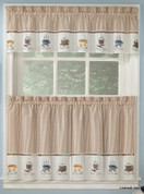 Java coffee theme kitchen curtain