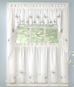 Monarch Butterflies embroidered kitchen curtain