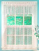 Priscilla Lace Insert Valance - Ivory