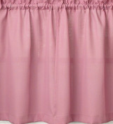 "Ribcord 24"" kitchen curtain tier - Blush"