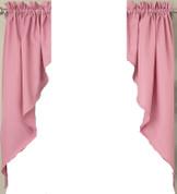 Ribcord kitchen curtain swag - Blush