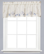 Seabreeze kitchen curtain valance - Ocean