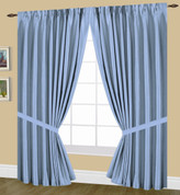 elaine pinch pleated drape pair blue
