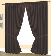 Elaine Pinch Pleated Drape PAIR - Chocolate