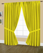 Elaine Pinch Pleated Drape PAIR - Neon Yellow