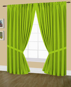 Elaine Pinch Pleated Drape PAIR - Neon Lime