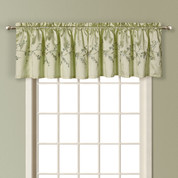 Addison Embroidered Valance - SAGE