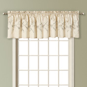 Addison Embroidered Valance - NATURAL