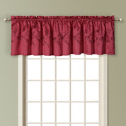 Addison Embroidered Valance - BURGUNDY