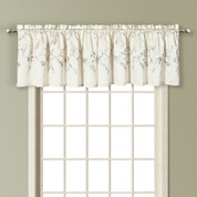 Addison Embroidered Valance - WHITE