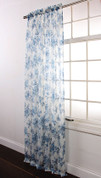 Ashley Rod Pocket Curtain - Indigo Blue