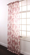 Ashley Rod Pocket Curtain - Rose
