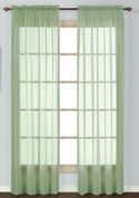 Batiste Semi-Sheer Rod Pocket Curtain - SAGE