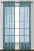 Batiste Semi-Sheer Rod Pocket Curtain - BLUE
