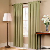 Blackstone Blackout Rod Pocket Curtain Panel - SAGE
