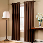 Blackstone Blackout Rod Pocket Curtain Panel - CHOCOLATE