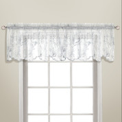 Bling Rod Pocket Valance - White