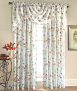 Brewster Swagger Valance - Available in Ivory or Antique