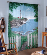 By The Sea Rod Pocket Curtain Pair