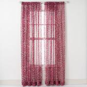 Cheetah Rod Pocket Curtain - Pink