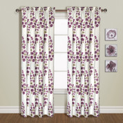 Chelsea Rod Pocket Curtain Panel - BURGUNDY