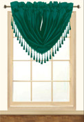Elaine Fringed Valance - Evergreen