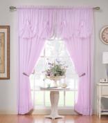 "Emelia Sheer Curtain Panel 84"" long - Burgundy"