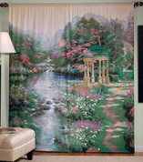 Garden of Prayer Rod Pocket Curtain Pair by Thomas Kincade