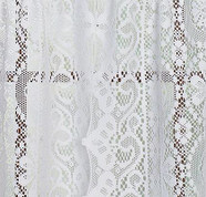 "Hopewell Lace Curtain Panel 63"" - White"