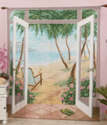 Island Breeze Rod Pocket Curtain Pair