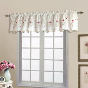 Loretta Embroidered Sheer Scalloped Valance - Violet