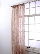 "Marley Rod Pocket Curtain 84"" long - Caramel"