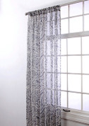 "Marley Rod Pocket Curtain 84"" long - Silver"