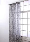 "Marley Rod Pocket Curtain 84"" long - Silver"