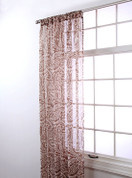 "Marley Rod Pocket Curtain 84"" long - Chocolate"