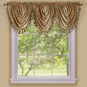 Ombre Waterfall Valance - Sand
