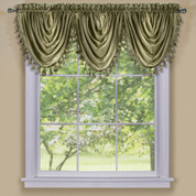 Ombre Waterfall Valance - Sage