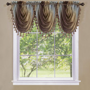 Ombre Waterfall Valance - Chocolate