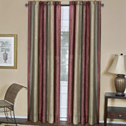 Ombre Rod Pocket Curtain Panel  - Burgundy