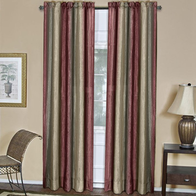 Curtains Ideas burgundy color curtains : Rod Pocket Curtains - Ombre Multi-Color Rod Pocket Curtain Panels ...