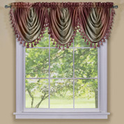 Ombre Waterfall Valance - Burgundy